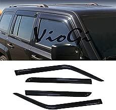 VioletLisa 4pcs Out-Channel Reinforced Acrylic Sun Rain Guard Vent Shade Window Visors for 07-17 Jeep Patriot