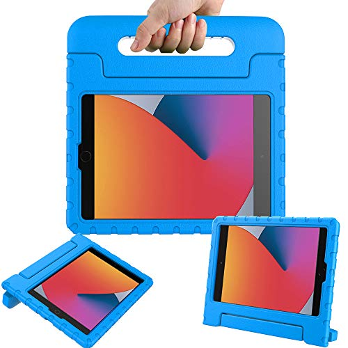 Surom Case for New iPad 10.2 Inch 2020/2019 (8th/7th Generation), Shockproof Lightweight Kids Friendly Convertible Handle Stand Protective Case for 2020/2019 iPad 10.2, iPad Air 3 10.5 2019, Blue