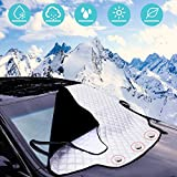 Car Windscreen Cover, URMI Car Windscreen Frost Cover Magnetic Snow Cover Windshield Ice Cover Car Front Window Sunshades Protector Cotton Thicker Winter Cover Fits for Small Middle Cars (183×116 CM)