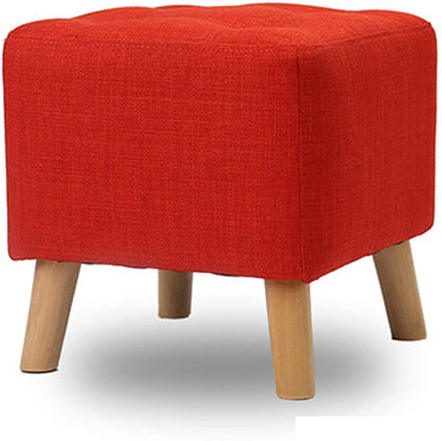 Change shoes Stool Square Stool Solid Wood Simple Stool Creative wear shoes Stool Square Stool Fabric Sofa Bench Bench Stool