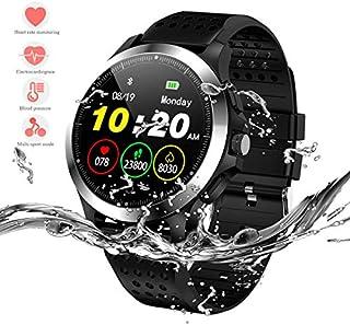 HERCINY Reloj inteligente deportivo, rastreador de fitness, IP67, resistente al agua, ECG+PPG integrado, monitor de salud, monitor de sueño, soporte 9 modos deportivos, podómetro, calorías, alarma de reloj, recordatorio personalizado