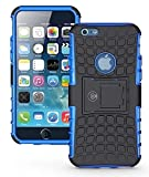 Cable And Case iPhone 6S Case, iPhone 6 Cases [Heavy Duty] Tough Dual Layer 2 in 1 Rugged Rubber Hybrid Hard/Soft Impact Protective Cover [with Kickstand Holder] Shipped from The U.S.A. - Blue