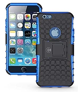 iPhone 6S Case iPhone 6 Cases by Cable and Case - [Heavy Duty] Tough Dual Layer 2 in 1 Rugged Rubber Hybrid Hard/Soft Impact Protective Cover [with Kickstand Holder] iPhone 6s Cases for Boys - Blue