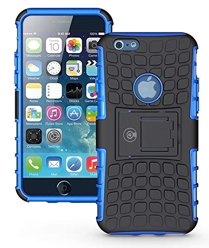 iPhone 6S Case, iPhone 6 Cases by Cable and Case - [Heavy Duty] Tough Dual Layer 2 in 1 Rugged Rubber Hybrid Hard/Soft Impact Protective Cover [with Kickstand Holder] iPhone 6s Cases for Boys - Blue