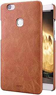 ZITEZHAI-Fashion case for Huawei Honor NOTE 8 Crazy Horse Texture Leather Surface PC Protective Case Back Cover (Color : Brown)