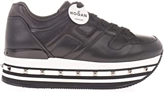 Luxury Fashion | Hogan Women HXW5340T548N7XB999 Black Leather Sneakers | Autumn-winter 20