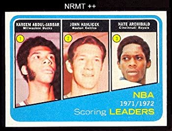 1972 Topps Regular  Basketball  Card# 171 Jabbar/Havlicek/Archibald VG Condition
