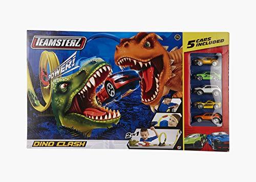 Teamsterz 1416440 Pista Dino Clash con 5 Coches