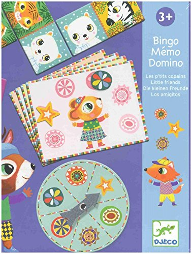 DJECO- Juegos de acción y reflejosJuegos de mesaDJECOEducativos Bingo Memo los amiguitos, Multicolor (15)