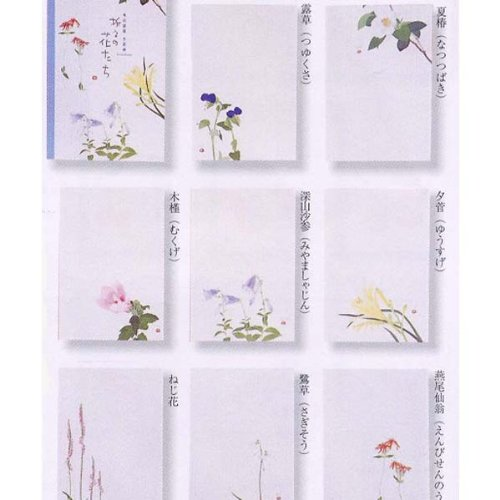 外山康雄 画 折々の花たちはがきセット 第五集(夏)30-528