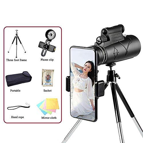 12X50 verrekijker HD High Power BaK4 Prism FMC Lens infrarood nachtzicht 10000 meter, met Laser Verlichte Statief for vogels kijken, jagen, enz ZHW345