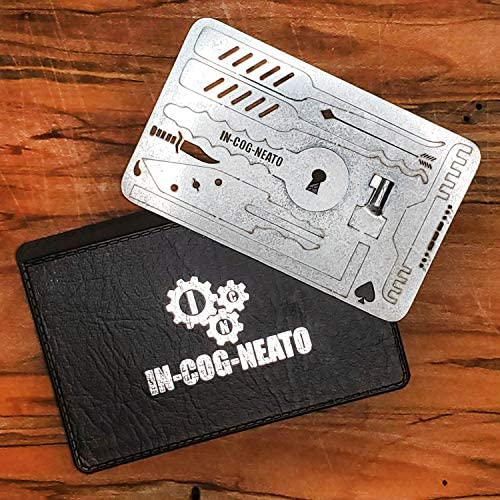 Credit Card Multitool Lock Survival Escape Tool Wallet Kit Stainless Steel Gifts for Him Birthday product image