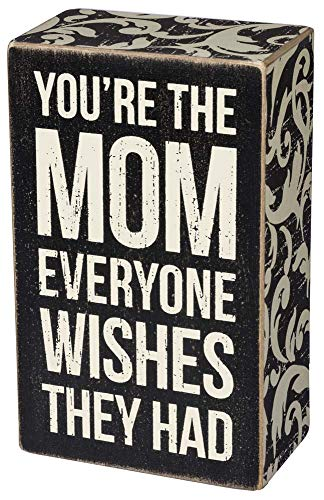 Primitives By Kathy Box Sign - The Mom (Things To Get For Your Moms Birthday)
