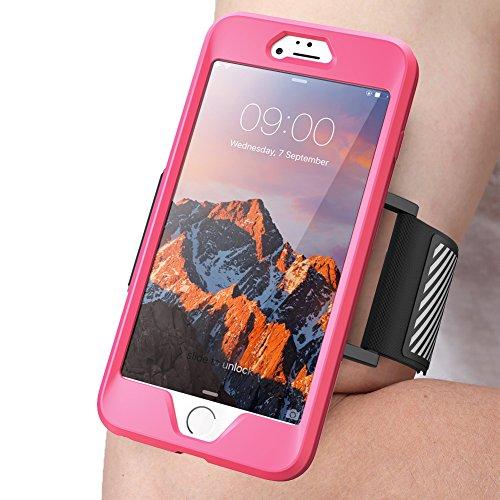 SupCase iPhone 7 Plus Armband, iPhone 8 Plus Armband, Sport Hülle Verstellbar Sportarmband Schutzhülle für Joggen Sport für iPhone 7 Plus/iPhone 8 Plus, Pink