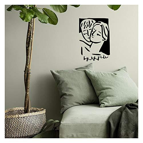 WALSITK Adhesivos de Pared de Fondo YAN, Estilo nórdico, Dormitorio, Red, Fondo Vivo, vinilos de Pared Personalizados, XXL Negro, 55x77 cm