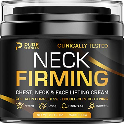 Neck Firming Cream - Anti Wrinkle Cream - Made in USA - Saggy Neck TIghtener & Double Chin Reducer Cream - Collagen & Retinol Skin Tightening Cream - Anti Aging Moisturizer for Neck & Décolleté