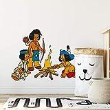 wall-art Wandtattoo Indianer Yakari mit Indianermädchen