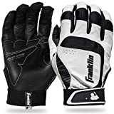 Franklin Sports MLB Adult Shok-Sorb Neo Batting Gloves, White/Black, Medium