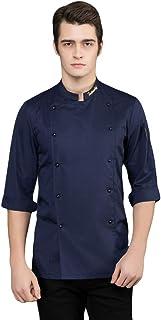 WanYangg Cuoco Unisex Giacca da Chef Traspirante Professionale Manica Corta Divise da Cuoco Hotel Cucina Camicia Uniformi ...
