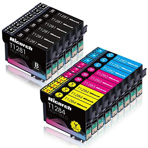 Hicorch T1285 Cartuchos de Tinta para Epson T1281 T1282 T1283 T1284 Compatible con Epson Stylus SX125 SX130 SX230 SX235W SX420W SX440W SX445W BX305F BX305FW Plus (6 Negro,3 Cian,3 Magenta,3 Amarillo)…