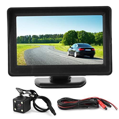 Vista trasera 4.3in 640x185 TFT LCD Pantalla de escritorio Grabador Monitor de estacionamiento Cámara de marcha atrás