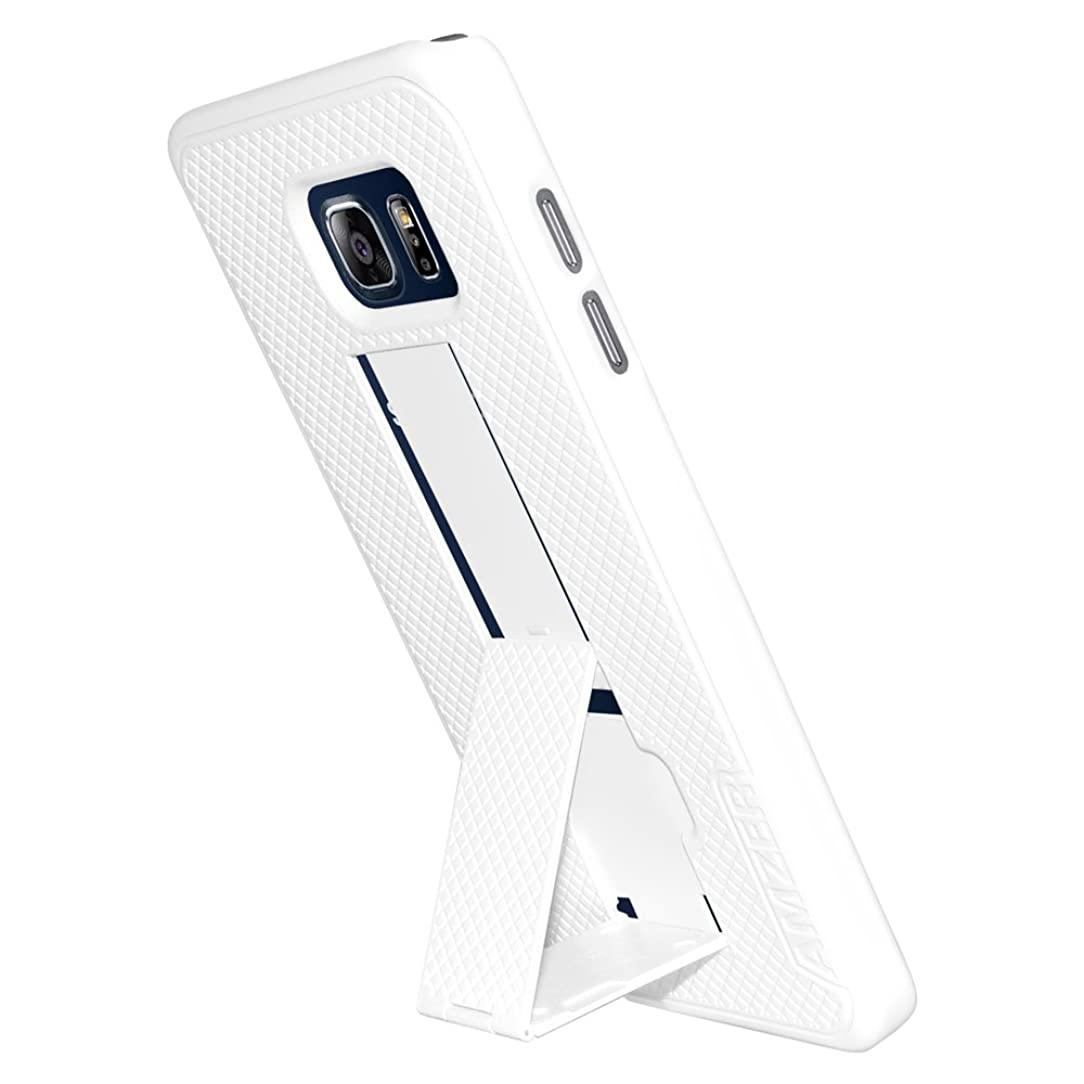AMZER Slim Snap On Shell Case with Kickstand for Samsung Galaxy Note 5 - Retail Packaging - White