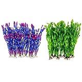 Vrttlkkfe Plantas artificiales de agua de algas para acuario, decoración de plantas de tanque de peces de plástico, 20 unidades