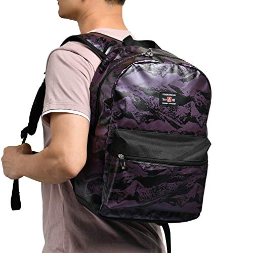 """17"""" Travel Laptop Backpack Water Resistant with USB Charging Port for Women & Men School College Students Backpack Fits 15.6"""",15"""",14"""" Laptop (Newest Valley Mountain Pattern Purple)"""
