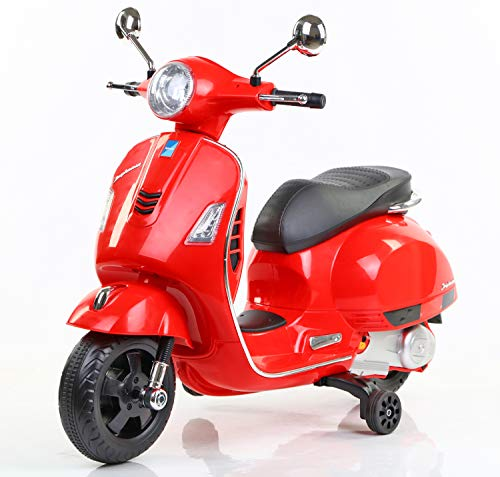 Toyhouse Vespa Rechargeable Battery Operated Ride-on Scooter for Kids(3 to 7yrs), Red