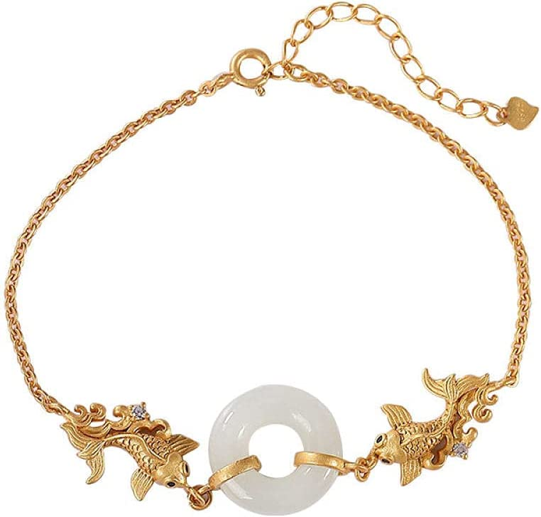 925 Sterling Silver Bracelet Vintage Women Gold-Plate Award-winning store At the price of surprise Simple for