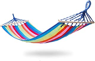 Zhoumin Fabric Hammock, Outing Hammock Children Adult Swing Bed Perfect for Outdoor Patio Yard Hanging Hammock