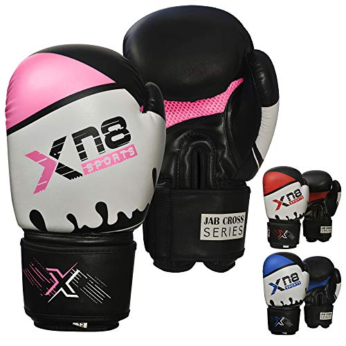 XN8 Boxhandschuhe Muay Thai Training Gloves-Punchinghandschuhe Sparring Boxsack Mitts für Kickboxen- Kampfsport- Boxsack Punching- Fitness, Sandsack Boxing Gloves Männer und Frauen