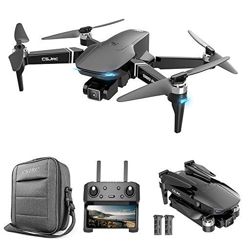 GoolRC CSJ S189 PRO GPS Drone for Adults, 5G WiFi FPV Drone with 4K UHD Camera, RC Quadcopter with Brushless Motor, Optical Flow Positioning, Auto Return Home, Follow Me, Storage Bag and 2 Batteries