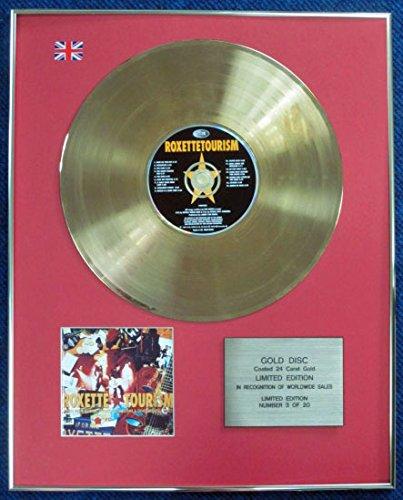 Roxette–Tourism, goldene Schallplatte mit CD, vergoldet mit 24Karat, limitierte Ausgabe