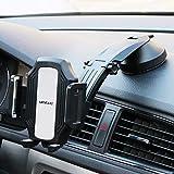 Umitive Soporte Móvil Coche, Soporte Telefono con Ventosa para Salpicadero, 360° Rotación, Brazo Telescópico Ajustable, Soporte Smartphone para iPhone11/X/Xs/8 Samsung S10/S9/S8 Huawei GPS