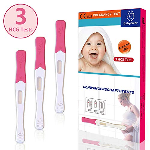 Schwangerschaftstest 20 miu ml, Schwangerschaftstest frühtest 3er Pack, Pregnancy Test Schwangerschaft fruehtest, SST Frühtest HCG Schnelltest, Einfach & Zuverlässig(HT-Baby-3-1)