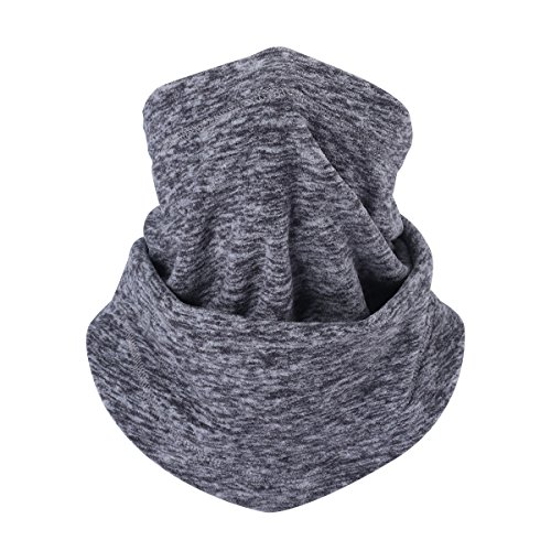 UHEREBUY Fleece Thermal Neck Warmer/Neck Gaiter Face Scarf/Face Cover Winter Motorcycle Ski Face Mask - Cold Weather Ultimate Balaclava Half Mask