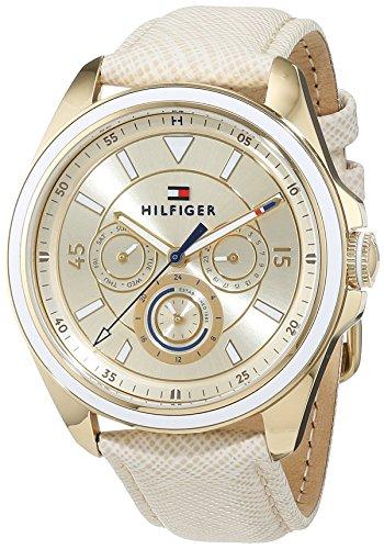 Tommy Hilfiger Damen Analog Quarz Uhr mit Leder Armband 1781806