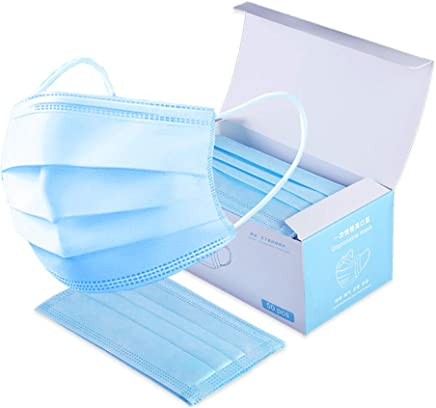 Strong Protection Masks 50 PC Disposable Medical Sanitary Surgical Face Masks/Hypoallergenic Thick Cotton Filter Mask