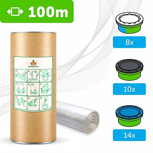 100m ECO Ricarica compatibile per mangiapannolini Tommee Tippee TEC Twist & Click Simplee...