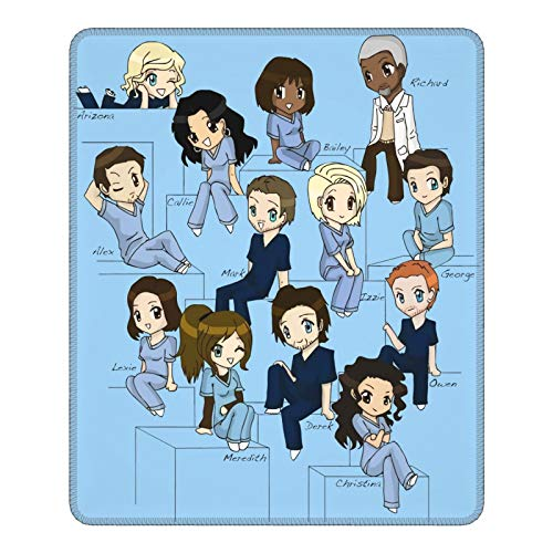 Grey's Anatomy Mouse Pad Office with Non-Slip Rubber Base, Stitched Edge Durable Mouse Mat for Computer Laptop Gaming Home