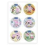Dekora - 6 Mini Discos Comestibles de Peppa Pig para Cupcakes, Muffins o Galletas - 5,8 cm Nombre de producto