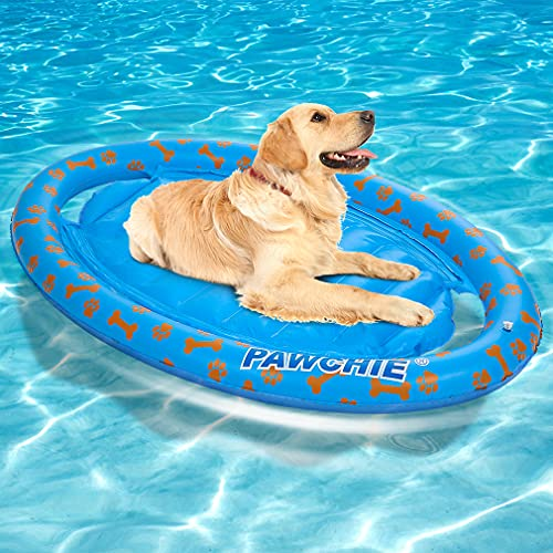 PAWCHIE Dog Pool Float - Inflatable Rafts, Inflatable Ride-ons for Pets Kids Summer Outdoor Water...