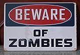 Beware Of Zomies Walking Dead Tin Sign Retro Poster Wall