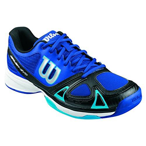 Wilson Rush Evo,   Tennisschuhe, Blau (White/ICE GRAY Wil/Steel Grey), 44 EU (9.5 UK)