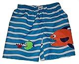 Healthtex Toddler Boys Fish Eating Crab Blue Swim Short Trunk - 5T