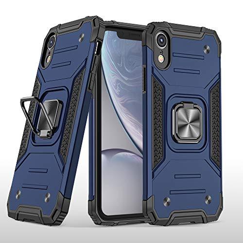 Cuoqing Cover iPhone XR, Antiurto Protezione Silicone con Kickstand Custodia per iPhone XR