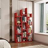 JIE KE Scaffale Libreria Moderna Libreria Libreria Libreria Scaffale Organizzatore di Archiviazione Scaffale per CD, Records, Libri, Home Office Deco Storage Organizer (Colore: rosso)