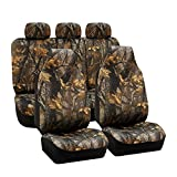 2008 dodge ram seat covers camo - TLH Hunting Camouflage Seat Covers Full Set-Universal Fit for Cars, Auto, Trucks, SUV