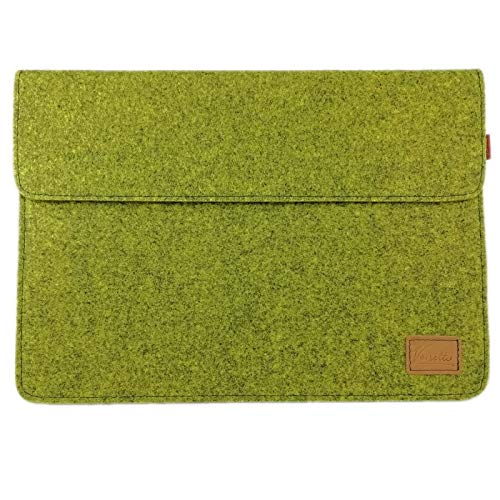 Venetto 15.4 Inch for MacBook Pro, Microsoft Surface 15.4 Inch Laptop Sleeve Case Ultrabook Protective Case for 15 Inch Notebook, Felt Bag (Olive)